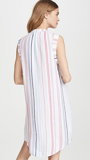 Bella Dahl 小肩袖正面裥褶连衣裙