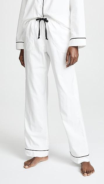 BedHead Pajamas 刺绣 Mrs. 经典睡衣套装