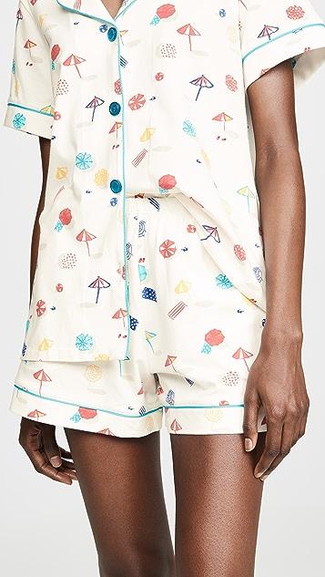 BedHead Pajamas 海滩风格经典睡衣套装