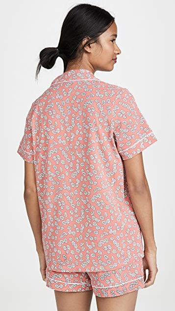 BedHead Pajamas Lazy Daisy 经典短裤睡衣套装
