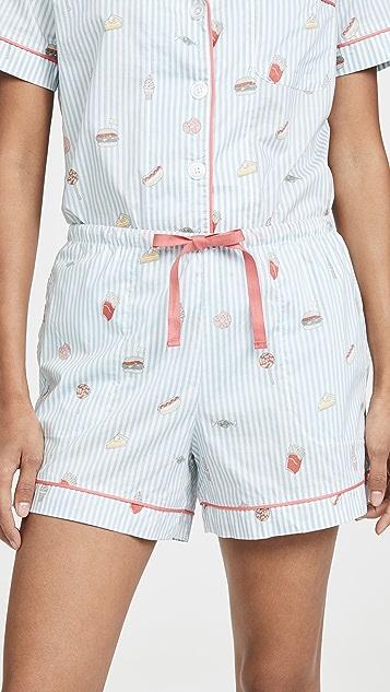 BedHead Pajamas Sweet And Savory 经典短裤睡衣套装
