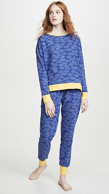 BedHead Pajamas 星星涡纹慢跑长裤睡衣套装
