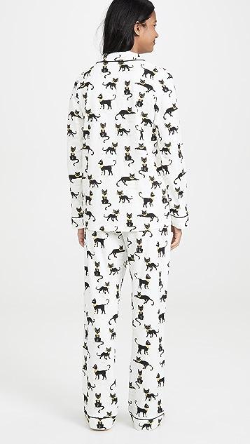 BedHead Pajamas Cairo Kitten 经典睡衣套装