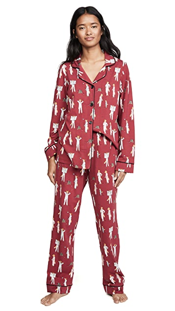 BedHead Pajamas 狐狸元素经典睡衣套装