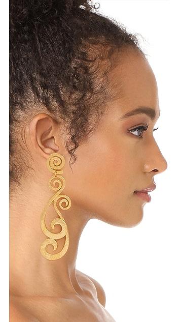 Ben-Amun 涡纹夹式耳环