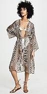 Bindya 豹纹和服罩衫