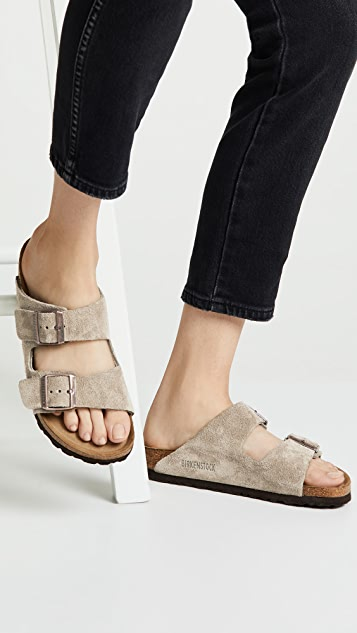 Birkenstock Arizona 柔软凉鞋 - 窄版
