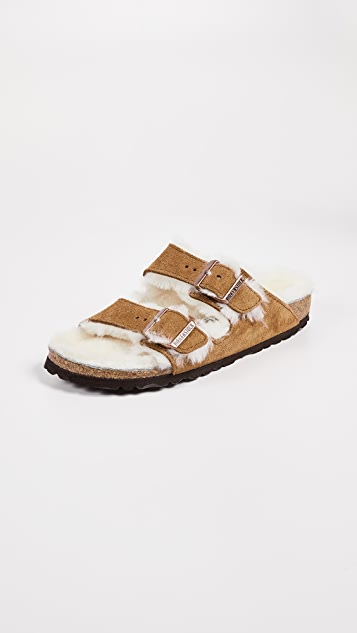 Birkenstock Arizona 连毛羊皮凉鞋