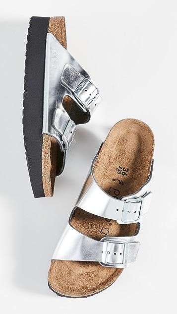 勃肯鞋 Arizona 厚底凉鞋-窄版