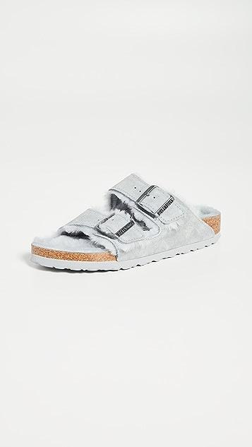 勃肯鞋 Arizona 连毛羊皮凉鞋