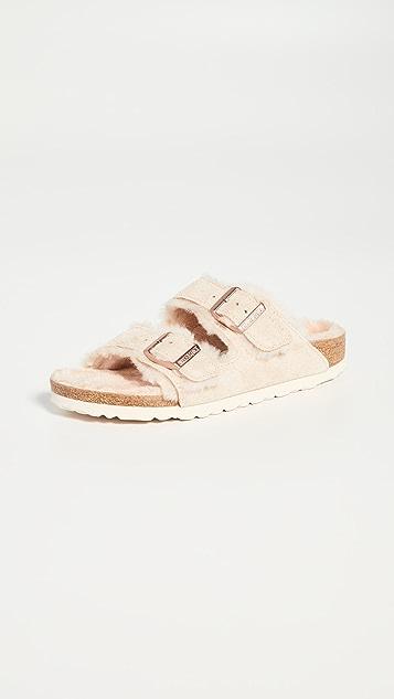 Birkenstock Arizona 连毛羊皮凉鞋