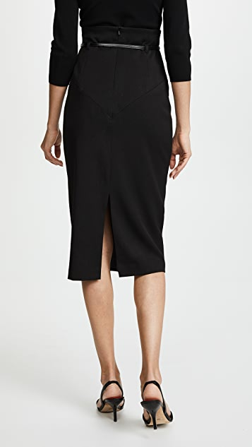 Black Halo 高腰铅笔裙