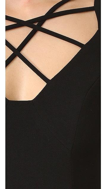 Black Halo Masca 直筒连衣裙