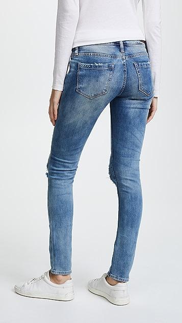 Blank Denim 仿旧紧身牛仔裤