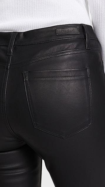 Blank Denim The Principle 中腰纯素革紧身裤
