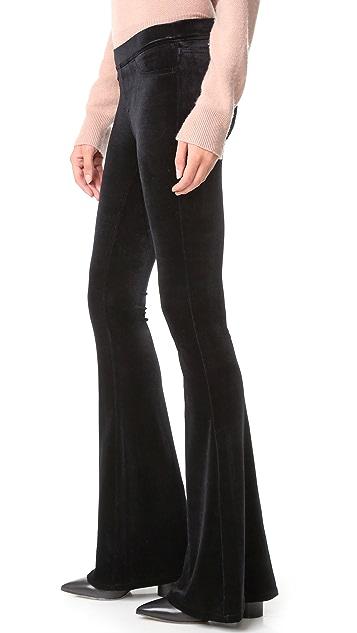 Blank Denim 天鹅绒喇叭牛仔裤