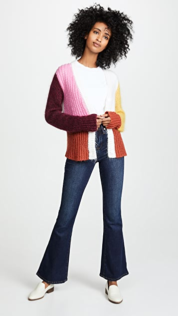 Blank Denim The Waverly 高腰喇叭牛仔裤