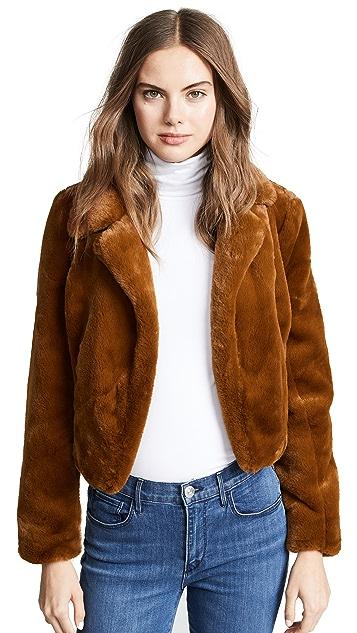 Blank Denim 短款人造皮毛夹克