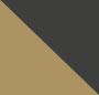 黑色/黄铜色