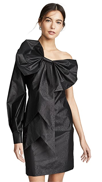 Boutique Moschino 单袖酒会连衣裙