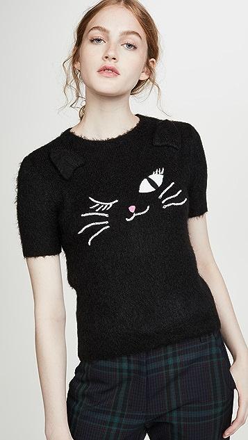 Boutique Moschino 猫咪 T 恤