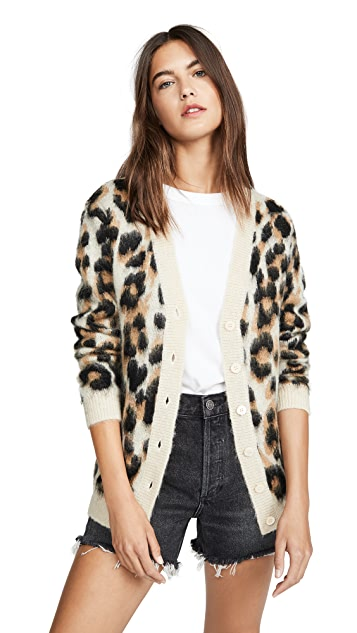 Boutique Moschino 豹纹开襟衫