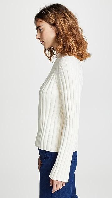 Bop 基础款 宽罗纹高领毛衣