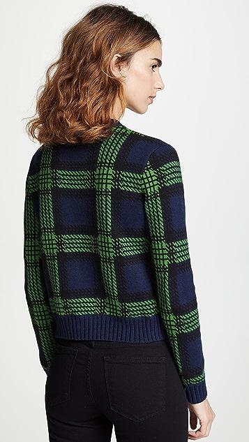 Bop 基础款 格子圆领毛衣