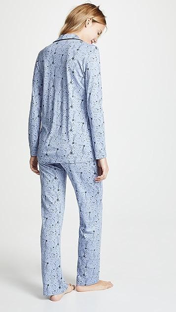 Bop 基础款 星星印花长袖睡衣套装