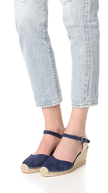 Botkier Elia 编织底坡跟绑带凉鞋