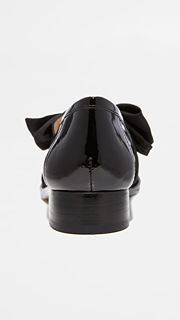 Botkier 紫蝴蝶结平跟船鞋