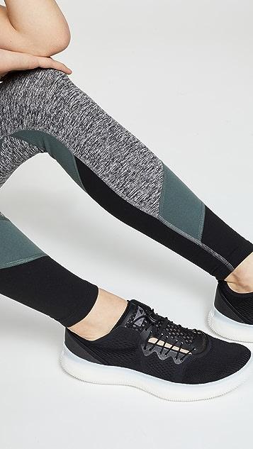 Beyond Yoga 撞色高腰长紧身裤