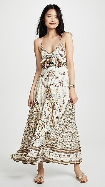 Camilla 绑带前方长连衣裙