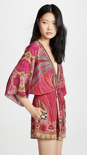Camilla V 领短款连身衣