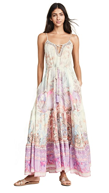 Camilla 正面系带细节连衣裙