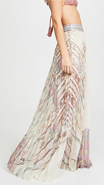 Camilla 褶皱下摆半身裙
