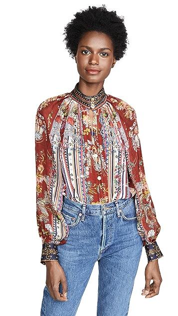 Camilla 连肩系扣衬衫