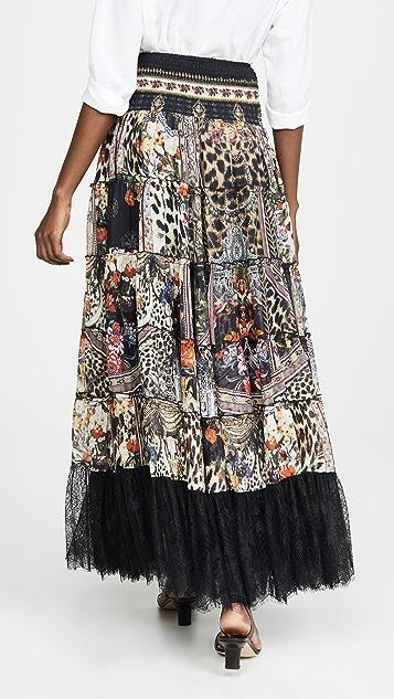 Camilla 轻薄层褶圆圈半身裙/连衣裙