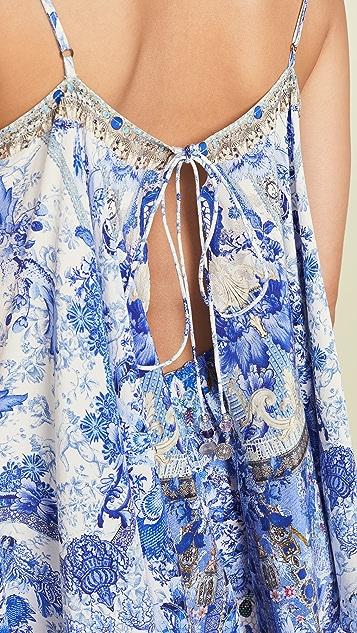 Camilla 彩绘喇叭短款连身衣