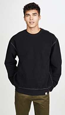 칼하트WIP Carhartt WIP Nebraska Relaxed Fit Sweatshirt,Black/White