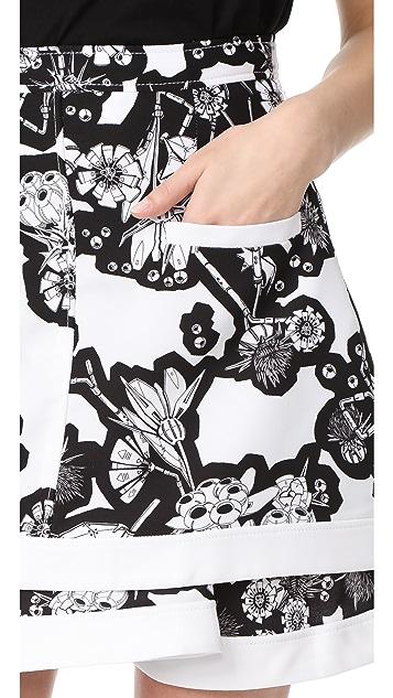 Carven 印花半身裙