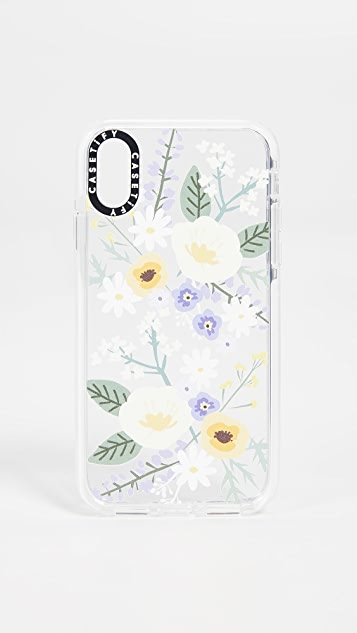 Casetify Soft Floral Veronica Violet iPhone X / Xs 手机壳