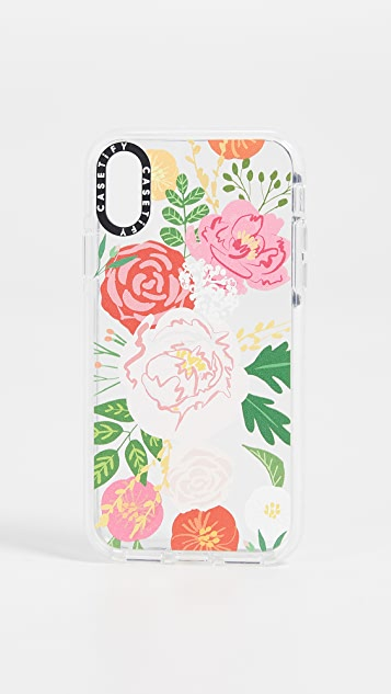 Casetify Jungle Adeline Florals iPhone X / XS 手机壳