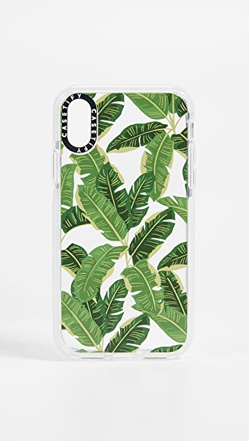 Casetify Jungle Leaves iPhone X / Xs 手机壳