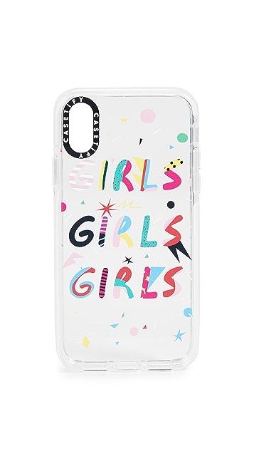 Casetify Girls Girls Girls iPhone X / Xs 手机壳