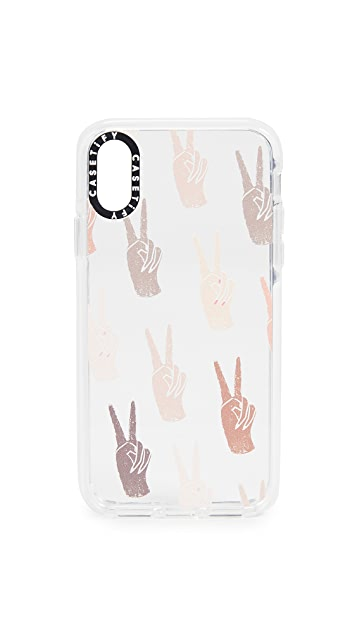 Casetify Peace iPhone X / Xs 手机壳