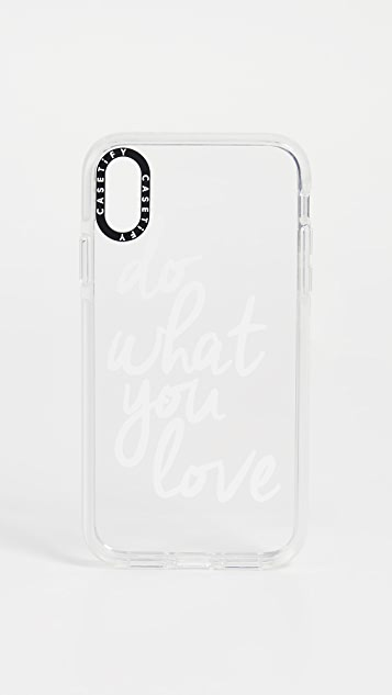 Casetify Do What You Love iPhone 手机壳