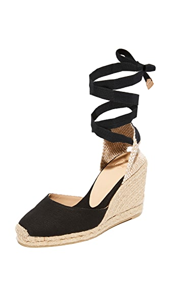 Castaner 经典帆布编织底坡跟鞋