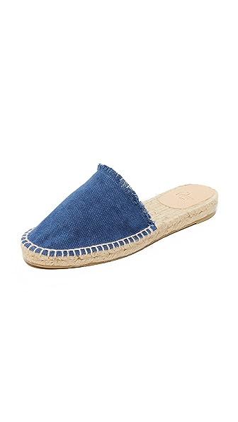 Castaner 流苏牛仔布穆勒鞋