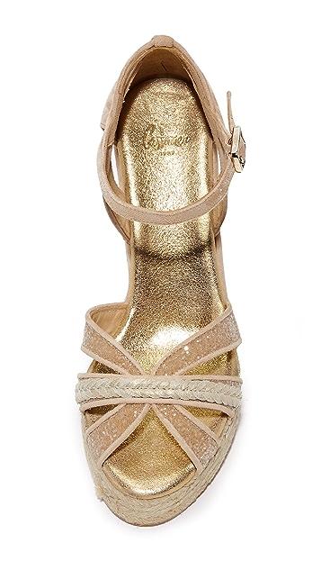 Castaner Wedding Sparkle Crisscross 编织底坡跟鞋